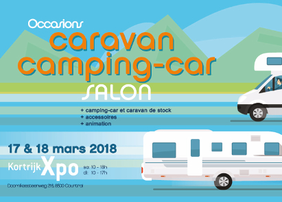 kortrijk xpo salon caravan camping car d occasion 2018. Black Bedroom Furniture Sets. Home Design Ideas